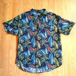 Cubavera Short Sleeve Henley Polo Casual Shirt